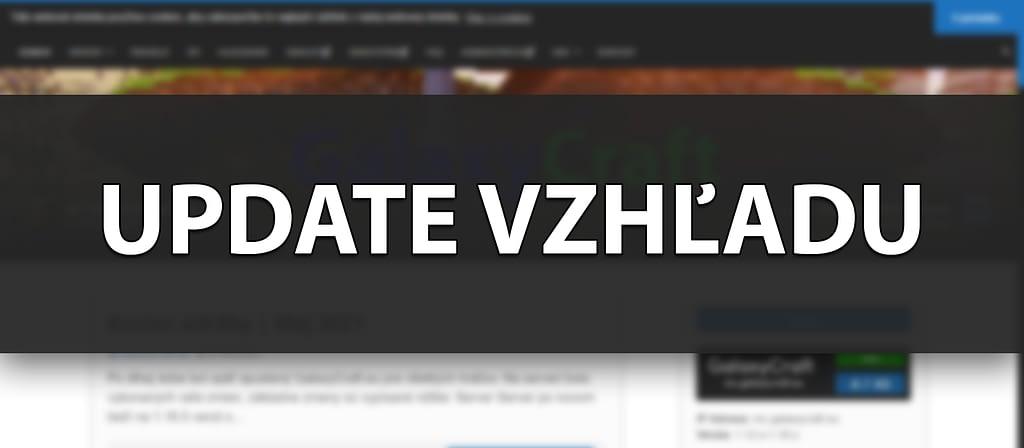 Veľký update vzhľadu webovej stránky | August 2021